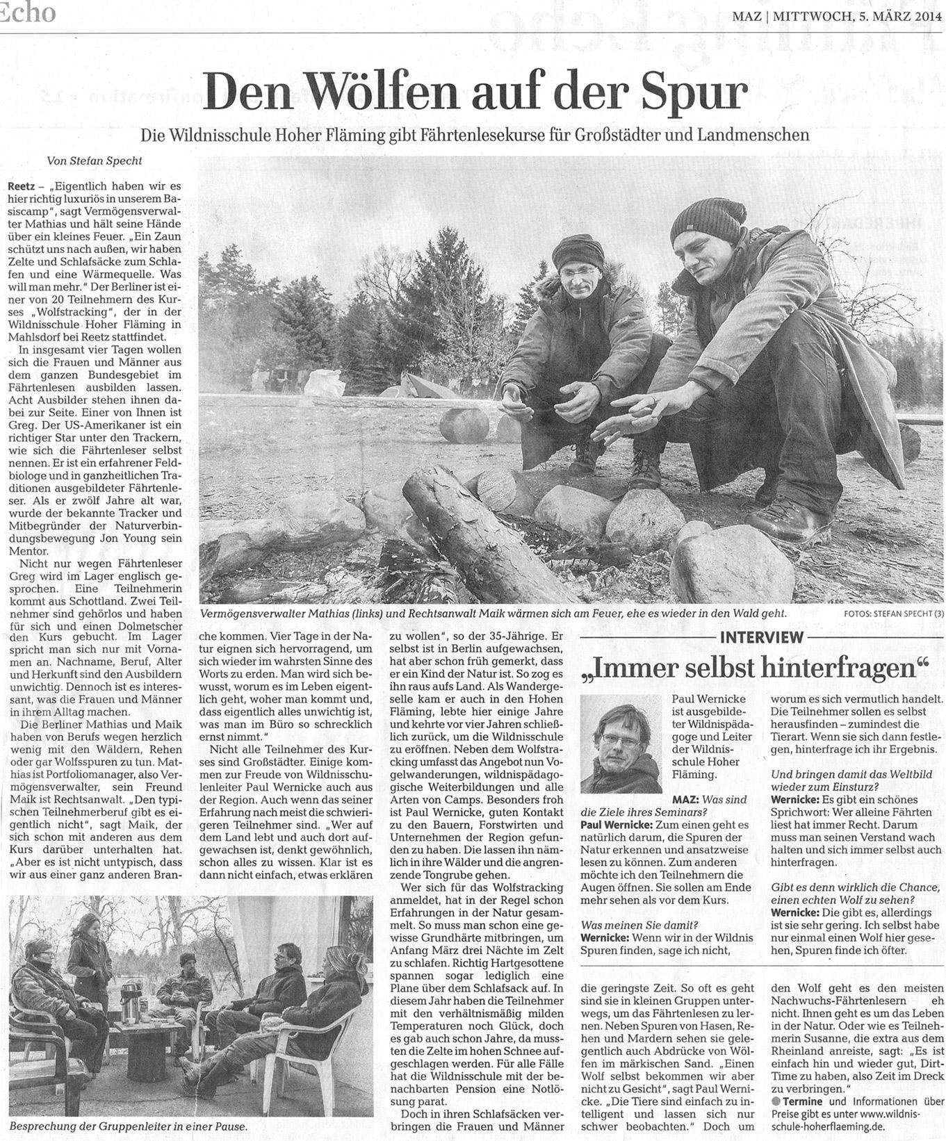 Presseartikel-Den-Woelfen-auf-der-Spur
